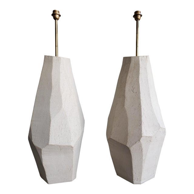 A Pair of Ceramic Floor Lamps For Sale
