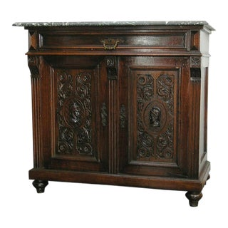 19th Century Italian Marble Top Credenza For Sale