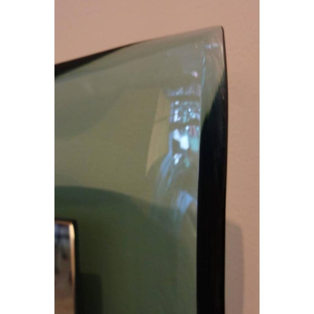 Mid-Century Modern Fontana Arte Very Rare Curved Framed Wall Mirror Italy circa 1958 For Sale - Image 3 of 10