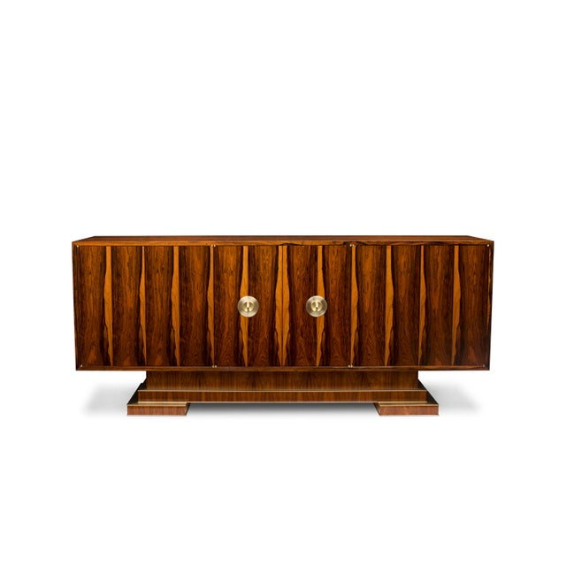 2000 - 2009 Old Growth Brazilian Rosewood Sideboard--One of Only Two Available in This Rare Material For Sale - Image 5 of 5