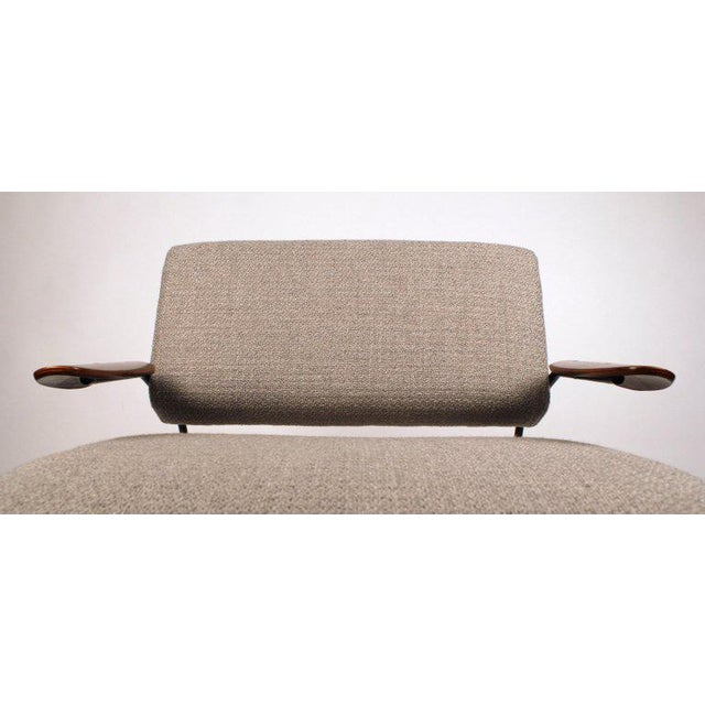 Dan Johnson Iron Lounge Chair With Bent Walnut Plywood Armrests For Sale In Dallas - Image 6 of 10