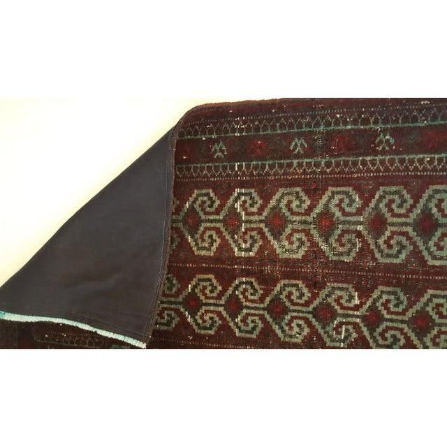 Dark Wool Turkish Rug - 2′8″ × 3′8″ For Sale - Image 5 of 8