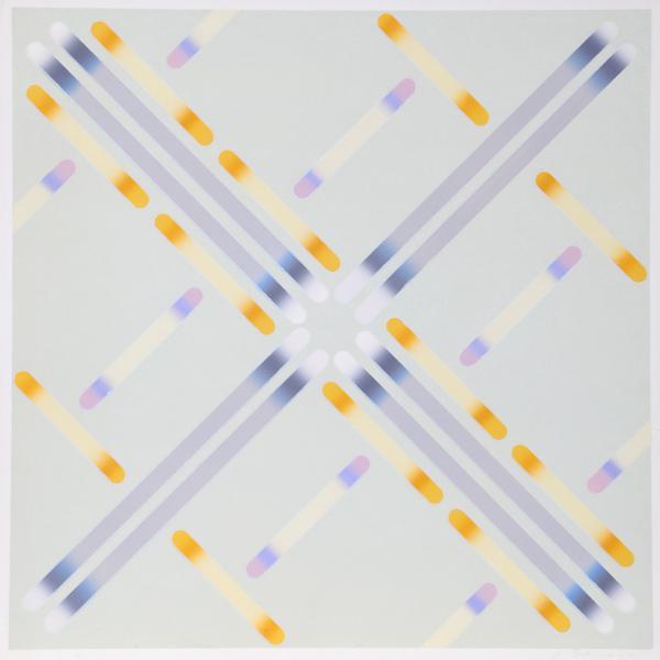 Artist: Garo Zareh Antreasian, American (1922 - ) Title: Untitled C.P. 236 Year: 1970 Medium: Silkscreen, signed and...