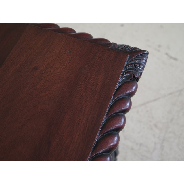 Chippendale Style Traditional Ball & Claw Mahogany Desk or Vanity For Sale In Philadelphia - Image 6 of 13