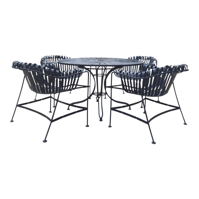 Mid-Century Outdoor Patio Set - Set of 5 For Sale