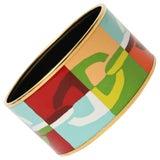 Image of Hermes Enameled Wide Cuff Bracelet For Sale