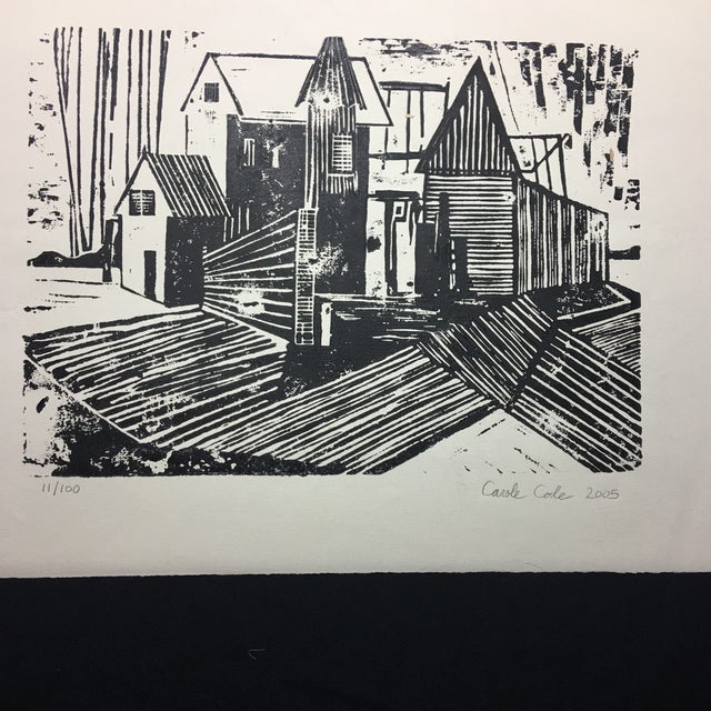 Woodblock Print Carole Cole Limited-Edition, 2005 For Sale - Image 4 of 7