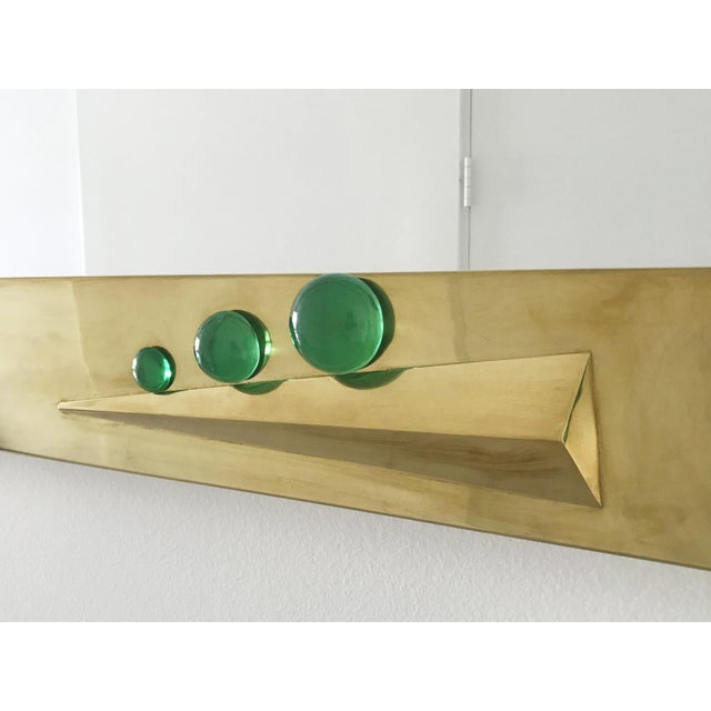 Green Verde Brass Mirror with Green Murano Glass Inserts by Fabio Ltd For Sale - Image 8 of 10