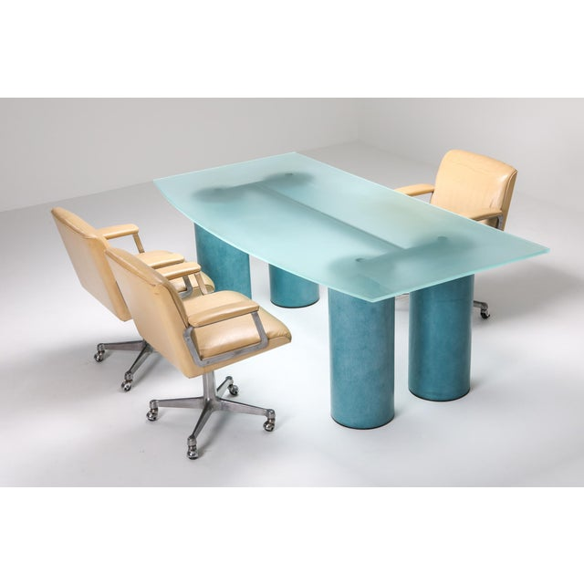 Postmodern 1970s Massimo Vignelli 'Serenissimo' Dining Table/Desk for Acerbis For Sale - Image 3 of 13