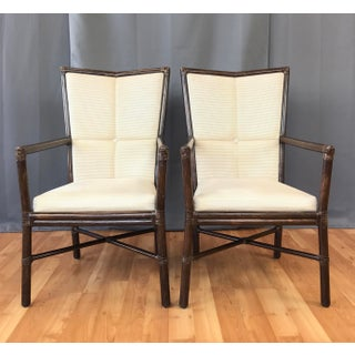 Orlando Diaz Azcuy for McGuire Pair of Cambria Arm Chairs Preview