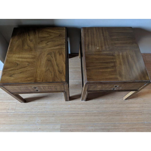 1970s Campaign Drexel Side Tables - a Pair For Sale In Phoenix - Image 6 of 8