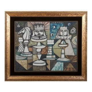 Chess, Original Painting on Canvas by Irving Amen