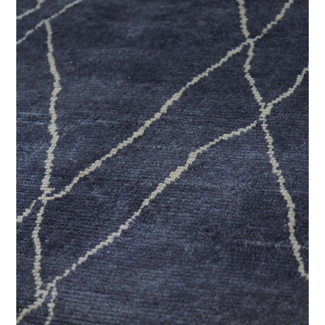 Moroccan Handwoven Moroccan Inspired Wool Rug For Sale - Image 3 of 7