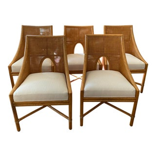 Barbara Barry for McGuire Caned Dining Chair - Set of 5 For Sale