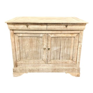 French Louis Philippe Bleached Oak Buffet Sideboard For Sale