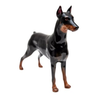 1960's Vintage Royal Doulton Doberman Pinscher Figurine For Sale