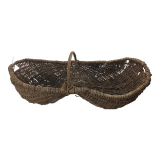 Vintage French Basket For Sale