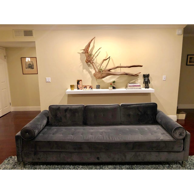 Astounding Dwell Mid Century Modern Blue Velvet Couch Chairish Gmtry Best Dining Table And Chair Ideas Images Gmtryco