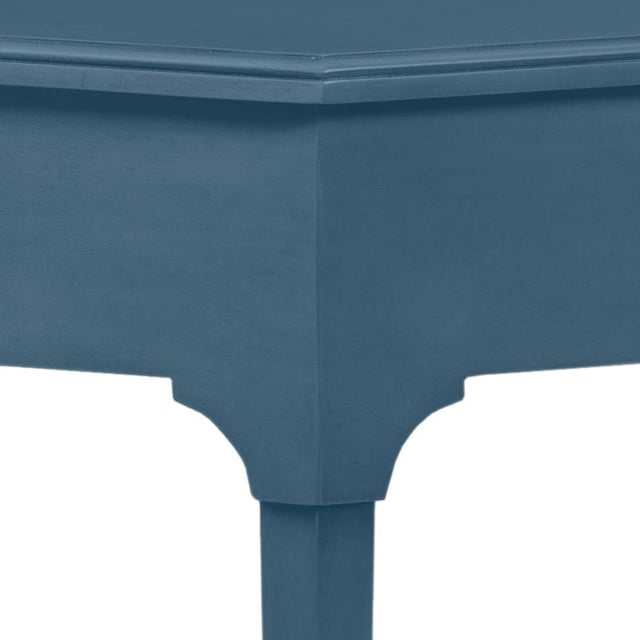This is a made to order item with a 6-8 week leadtime. The color is Benjamin Moore Van Deusen Blue.A handy hall table with...