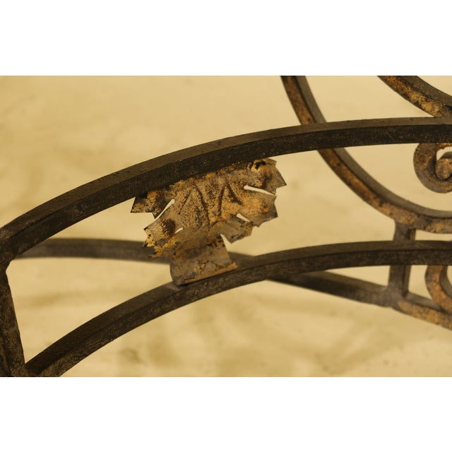 Wrought Iron Base Console Table with Maple Top For Sale - Image 12 of 13