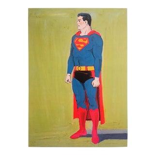 "Mel Ramos Offset Lithograph Print San Francisco Museum Pop Art Poster "" Superman "" 1962 For Sale"