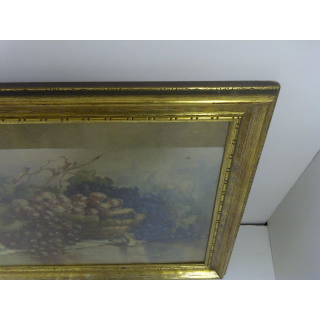 """""""Grapes,"""" Victorian Painting For Sale - Image 5 of 6"""