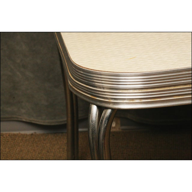Mid-Century Modern White Formica Dinette Table - Image 8 of 12