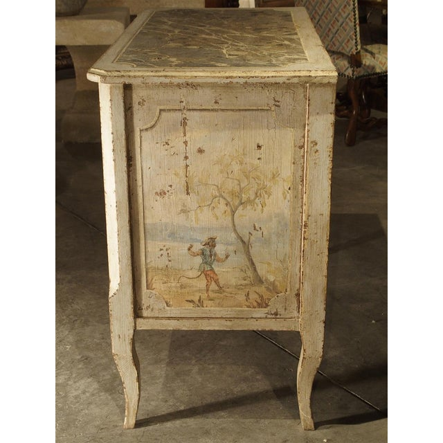 Italian Antique Painted Commode From Italy, 19th Century For Sale - Image 3 of 13