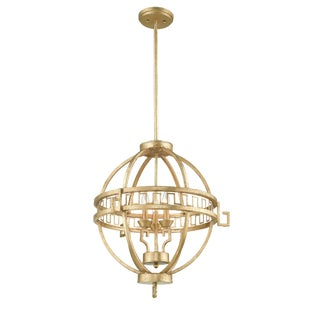 Lemuria 2 Light Round Globe Pendant For Sale
