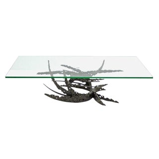 "Dan Gluck Brutalist ""Swirl"" Table For Sale"