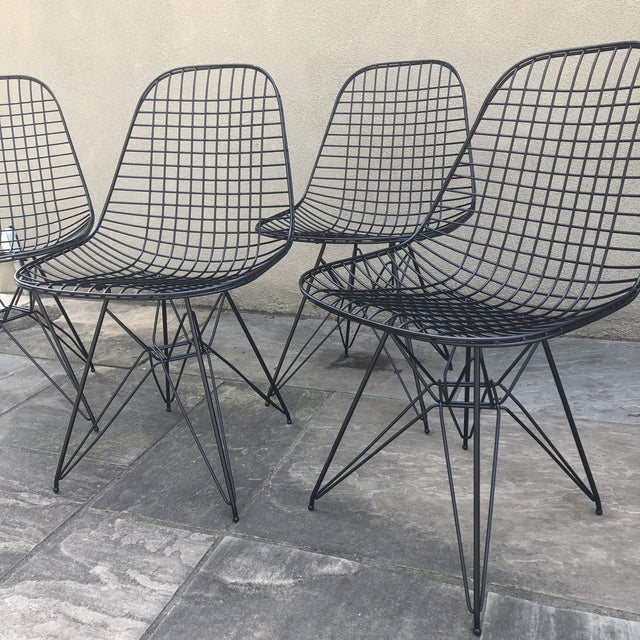 Herman Miller Herman Miller Eames Vintage Wire Chair Eiffel Original For Sale - Image 4 of 8