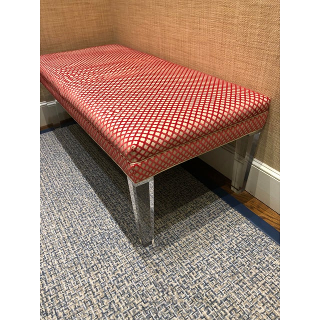 Traditional Early 21st Century Vintage NY Sutton Bench For Sale - Image 3 of 10