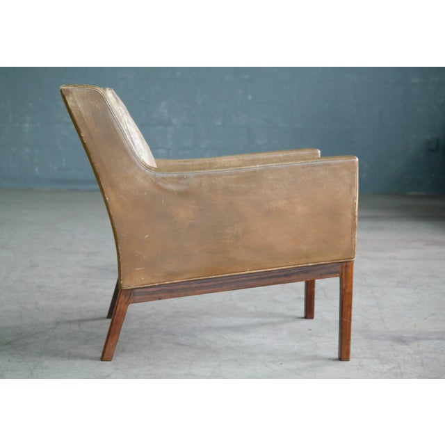 Wood Kai Lyngfeldt Larsen Easy Chair Model 39 Leather Rosewood for Søren Willadsen For Sale - Image 7 of 11