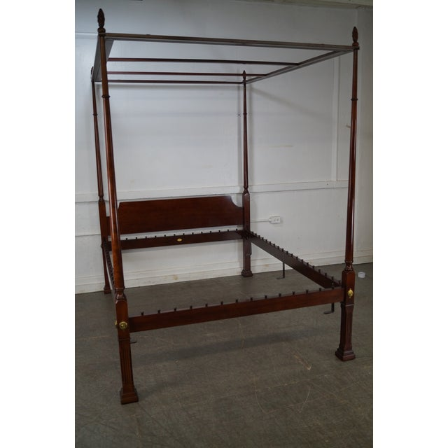 Kindel Queen Size Cherry Poster Canopy Bed - Image 7 of 10