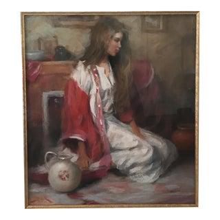 Original Dan Becker Oil Pastel Painting For Sale