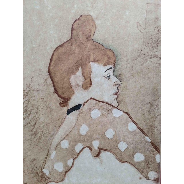 French Women Portrait Prints of 19th Century Artworks by Painter and Artist, Henri De Toulouse-Lautrec. Lot of 4 For Sale - Image 9 of 13