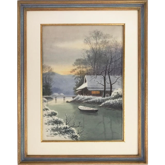 Japanese Landscape Watercolor Painting - Image 9 of 9