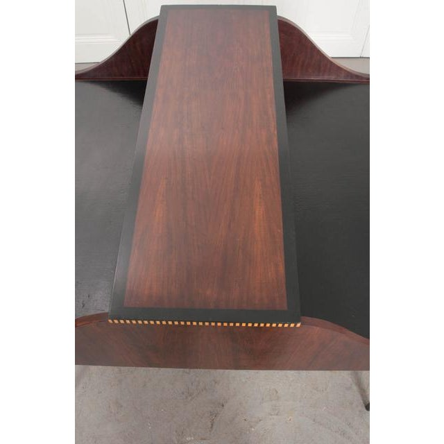 Black French Early 20th Century Art Deco Mahogany Partners Desk For Sale - Image 8 of 11