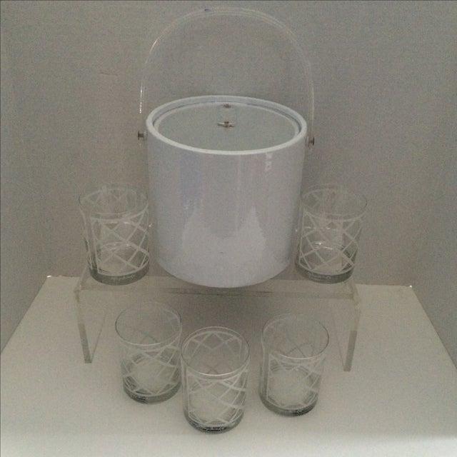 Georges Briard Mid-Century Ice Bucket & Glasses - Image 2 of 6
