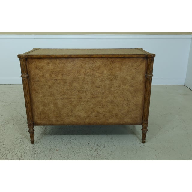 Maitland Smith Regency Style Leather Wrapped Chest Dresser For Sale - Image 10 of 12