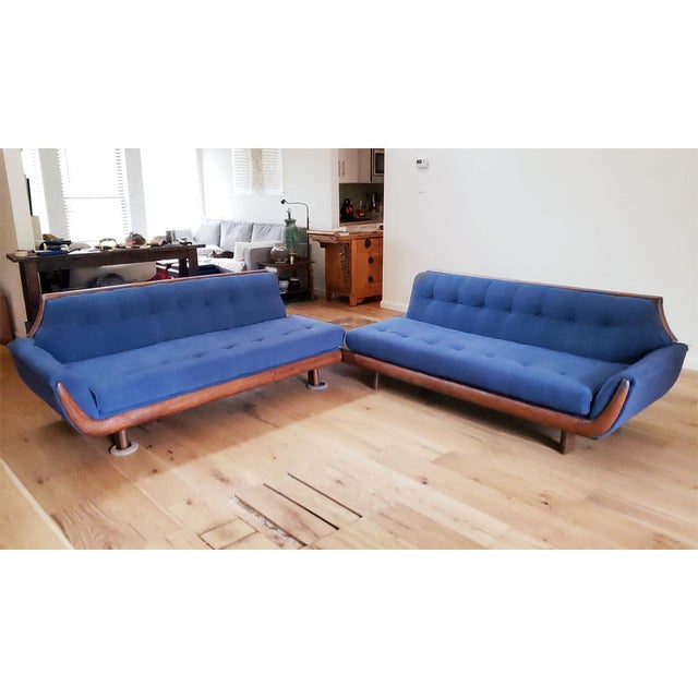 Blue Blue Mid-Century Modern Sectional Sofa For Sale - Image 8 of 8