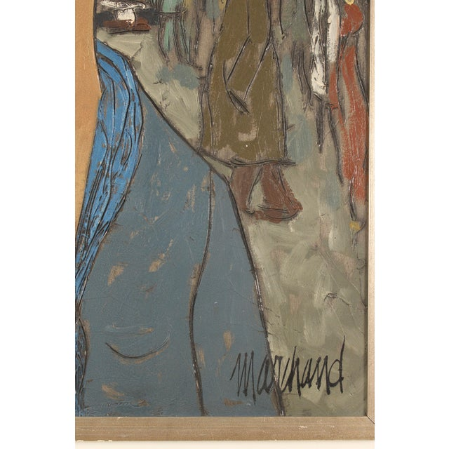 Blue Painting of a Lady in Blue by Philippe Marchand For Sale - Image 8 of 13