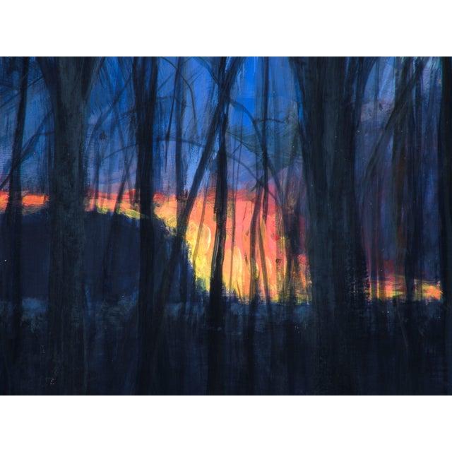 Original Sunset Through Trees Painting - Image 3 of 4