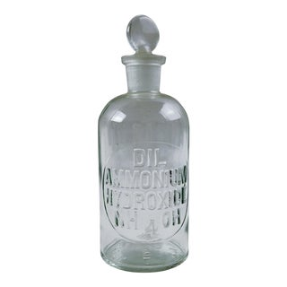 Embossed Vintage Apothecary Bottle For Sale