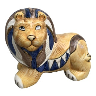 Mid-Century Ceramic Lion