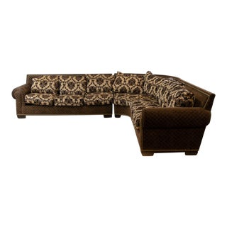 Rc Furniture Upholstered Sectional Sofa For Sale