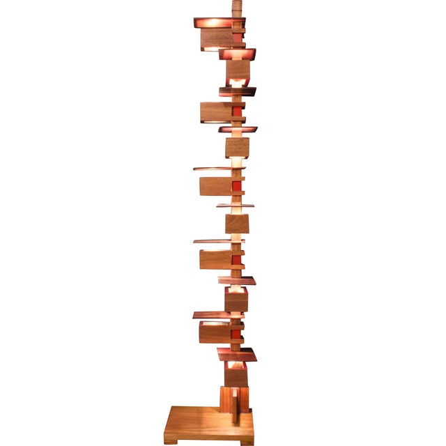 Frank Lloyd Wright Style Floor Lamp For Sale