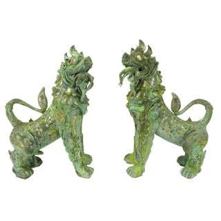 Pair of Massive Phyllis Morris Bronze Dragons Holding Female Nudes For Sale