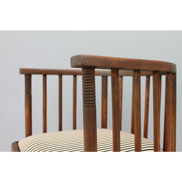 Early Josef Hoffmann Barrel Chair Jacob & Josef Kohn Austria, 1880 For Sale - Image 10 of 12