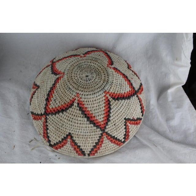 Mid 20th Century Ghanian Orange Basket For Sale - Image 5 of 8